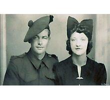 Mum and Brother Richard Photographic Print