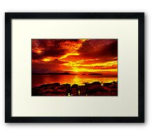Bunbeg Fiery Sunset Framed Print