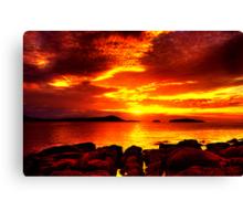 Bunbeg Fiery Sunset Canvas Print