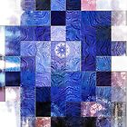 Blue Mosaic 2-Available In Art Prints-Mugs,Cases,Duvets,T Shirts,Stickers,etc by Robert Burns