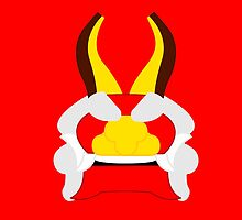 Minimalist King of Red Lions (Mascarón Rojo) by pachanmask