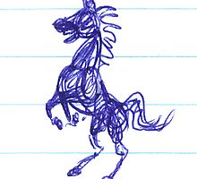 Horsey Doodle #2 by Jodi Franzke