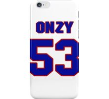 National football player Onzy Elam jersey 53 iPhone Case/Skin