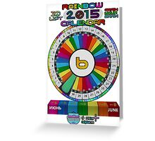 JUNE - 2015 Rainbow Calendar - Sticker Greeting Card