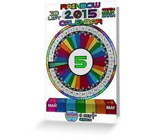 MAY - 2015 Rainbow Calendar - Sticker Greeting Card