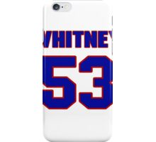 National football player Dave Ogas jersey 53 iPhone Case/Skin