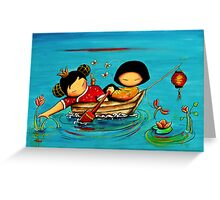 Lotus Love Greeting Card