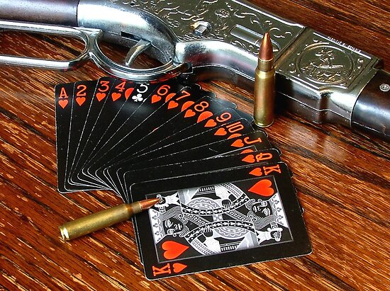A Western Game of Cards by Colin J Williams Photography