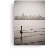 Surveying The City Canvas Print