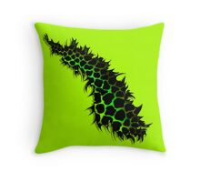 Green and Yellow Leopard Print Ripped Tear Design  Throw Pillow