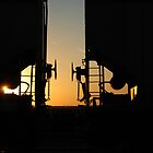 Sunset at the Tracks by Crystal Zacharias