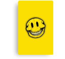 Smiley Skull Canvas Print