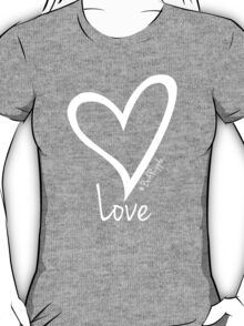 LOVE....#BeARipple White Heart on Lavender T-Shirt