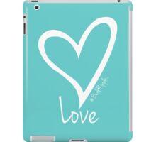 LOVE....#BeARipple White Heart on Tiffany iPad Case/Skin