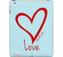 LOVE....#BeARipple Red Heart on Blue iPad Case/Skin