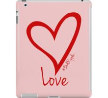 LOVE....#BeARipple Red Heart on Pink iPad Case/Skin