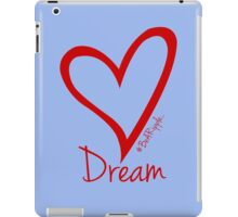 DREAM....#BeARipple Red Heart on Lavender iPad Case/Skin