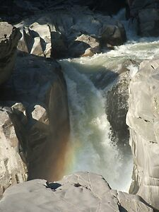 Granite Falls With Rainbow