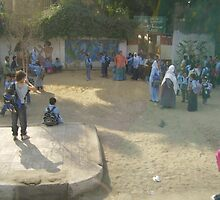 Schoolyard in Egypt by Ann Palmieri