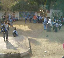 Schoolyard in Egypt by Ann Palmieri
