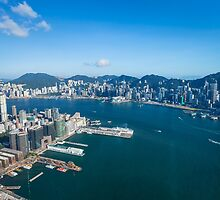 Hong Kong skyline by kawing921