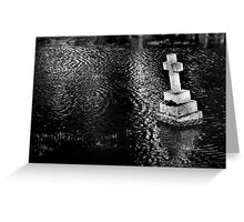 Flooded Graveyard - Southern England Febuary 2014 Greeting Card