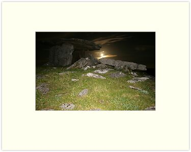 Night at Poulnabrone Dolmen 2 by John Quinn