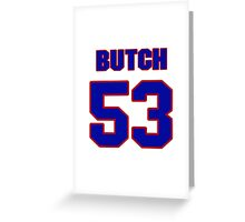 National football player Butch Maples jersey 53 Greeting Card