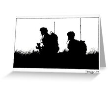 Soldiers at the end of the exercise Greeting Card
