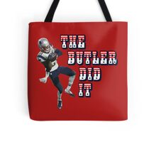 The Butler Did It - New England Patriots Malcolm Butler 21 Tote Bag