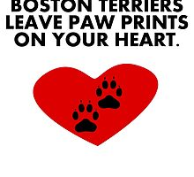Boston Terriers Leave Paw Prints On Your Heart by kwg2200