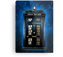 Space Traveller Box with 221b number Metal Print
