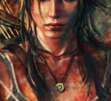 Lara Croft Tomb Raider Reborn Artwork Sticker