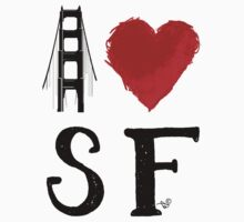 I Heart San Francisco (remix) by Tai's Tees Kids Clothes