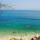 Blue sea in Corfu by loiteke