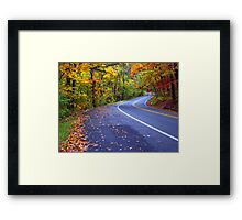 Autumn Drive On The Pig Trail Framed Print