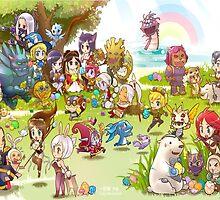 League of Legends chibi poster by dardarius