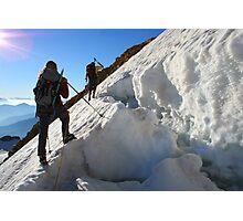 dangerous climbing Photographic Print