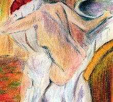 after degas, woman drying herself2 by Jennib