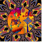 Girl With Kaleidoscope Eyes by Sarah Curtiss