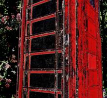 Red Phone Box Sticker