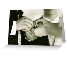 Exchanging the Rings Greeting Card
