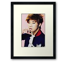 Sunggyu of Infinite inspired Framed Print