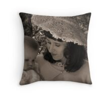 50's mother & child Throw Pillow