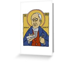 Rodolphe Töpffer: Patron Saint of Comics Greeting Card