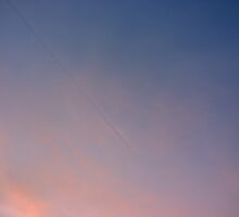 Contrail shadow by Rosie Appleton