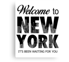 Taylor Swift - Welcome To New York Canvas Print