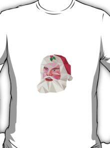 Santa Claus Father Christmas Low Polygon T-Shirt