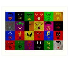 Minimalist Superhero Poster Art Print