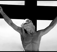 Jesus on the cross 3 by Paul Reay
